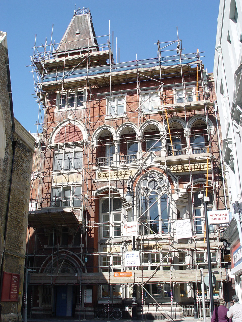 Hastings Library with scaffolding
